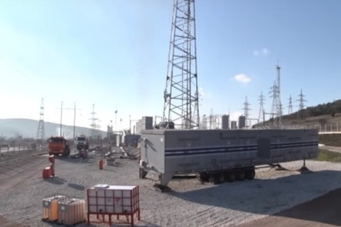 ВКрым поставили две мобильные газотурбинные станции повыробатыванию электричества