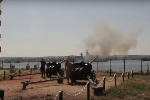 ВКрыму возродили традицию полуденного выстрела