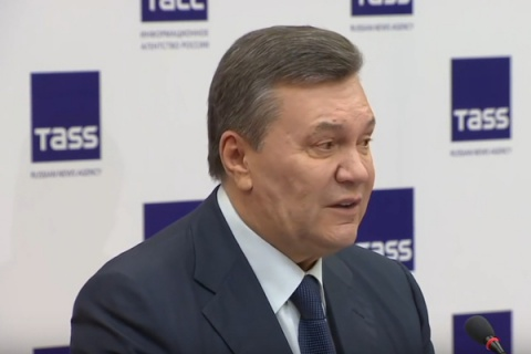 Янукович поведал окрымском референдуме иМайдане